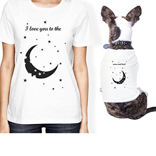 365 Printing Moon And Back Small Pet Owner Corrispondenza Gift Outfits, Maglietta da Donna, ONWER - S/Pet - XL, Infradito Colorati Estivi, con finte Perline