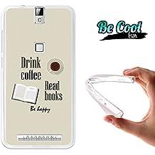Becool® Fun - Funda Gel Flexible para Elephone P8000, Carcasa TPU fabricada con la mejor Silicona, protege y se adapta a la perfección a tu Smartphone y con nuestro exclusivo diseño. Bebe café