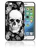 Fifrelin Coque iPhone et Samsung Fleurs Flowers Skull Tete de Mort Swag0158