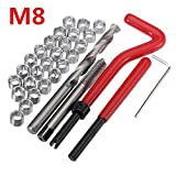 ChaRLes 30Pcs Beschädigter M8 Thread Repair Tool Kit Reparatur Recoil Insert Kit