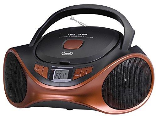 Trevi CMP 531 USB Stereo Portatile Boombox con Mp3, USB, Radio e CD, Rosso