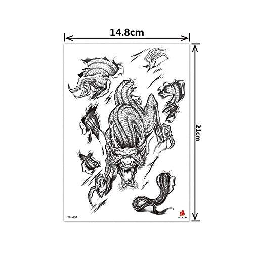 3pcs-2019 spot tatuaje pegatina impermeable verde flor brazo medio brazo tatuaje temporal tatuaje 3pcs-5