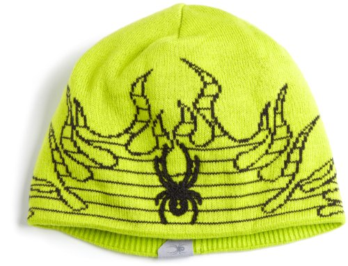 Black Fire Hat (Spyder Boy 's Fire Hat, Jungen, Sharp Lime/Black)