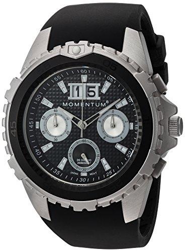 Momentum Hommes Chronographe Quartz Montre avec Bracelet en Caoutchouc 1M-DV22B4B