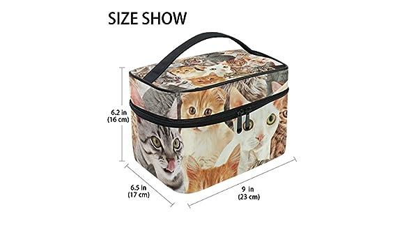 Tizorax Chiens et chats Grand sac Cosm/étique de voyage Organiseur de maquillage Coque support pour femme Filles