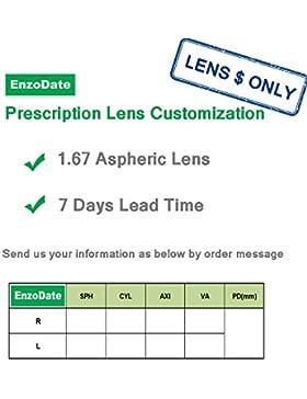 EnzoDate-Occhiali per bambini e bambine, taglia 50/17, passo di vite, flessibile, in vetro ottico Silicone morbido...