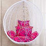 ZHAS Altalena Patio Sedia da Giardino Tessuto Uovo Cuscino Interno o Esterno, Altalena appesa Cestino Cuscino Sedile (Colore: Rosso)