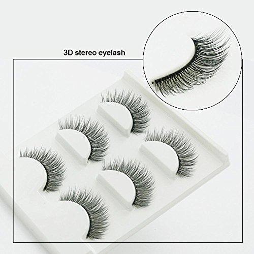 Naturel incroyable 3D stéréo multicouche faux cils pur artisanal cils (3 paires) 3D-28