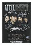 Volbeat Signiert Autogramme 21cm x 29.7cm Plakat Foto
