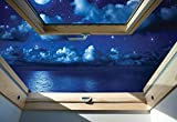 Dreamy Nachthimmel 3D-Dachfenster-A...
