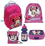 Unbekannt Minnie Maus Kindergarten Set - Rucksack / Turnbeutel / Geldbeutel / Brotdose / Trinkflasche