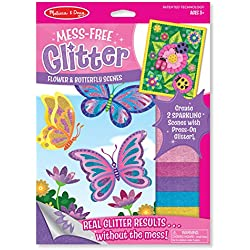 Melissa & Doug Mess Free Glitter - Flower and Butterfly Scenes, Multi Color