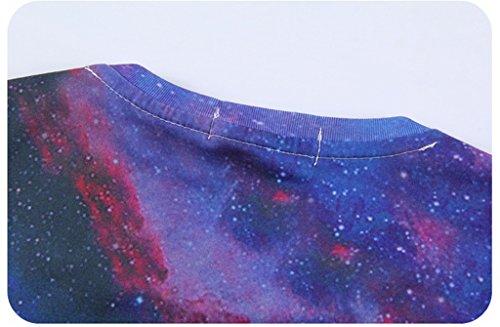 Pretty321 Men Women Triangle Sky Cloud Universe Stars Galaxy 3D Print T-shirts Amazon