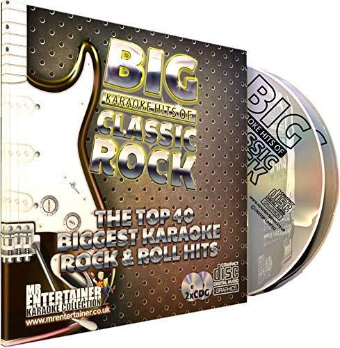 Mr Entertainer Big Karaoke Hits of Classic Rock - Double CD+G (CDG) Pack. 40 Top Rock Songs. Rockmusik -