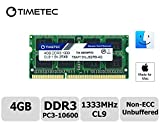 Timetec Hynix IC compatible with Apple 4GB DDR3 1333MHz PC3-10600 SODIMM Memory...