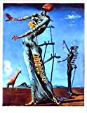 1art1 35216 Salvador Dali - Girafe En Feu Poster Kunstdruck 70 x 50 cm