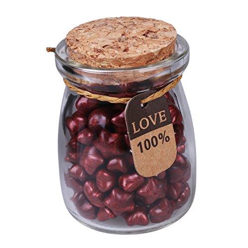 Siegellack Perlen Flasche Stempel Wachs in Sternform für Umschlag Briefkopf Versiegelung Geschenk (Weinrot) (Wachs-flaschen)