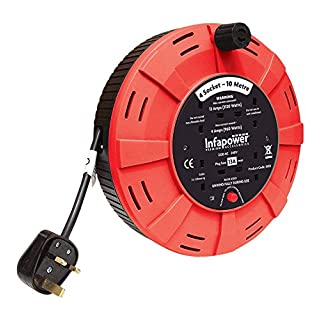 INFAPOWER X812 4 Socket 13 A 10 m Cable Drum