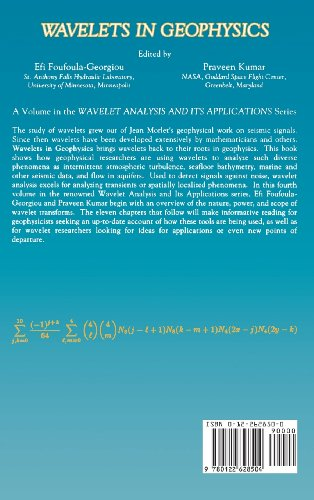Wavelets in Geophysics: 4 (Wavelet Analysis and Its Applications)