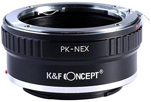 K&F Concept K-NEX Objektivadapter kompatibel mit Sony NEX Alpha E-Mount Adapter | Adapterring Kamera Ring Objektiv PK-NEX P-K Pentax K Pentax-K PK - Kamera-objektiv Pentax Für