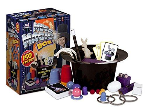 Mega magic box kids 150trucchi cappello mago coniglio svolgere giocattolo set wand new gift