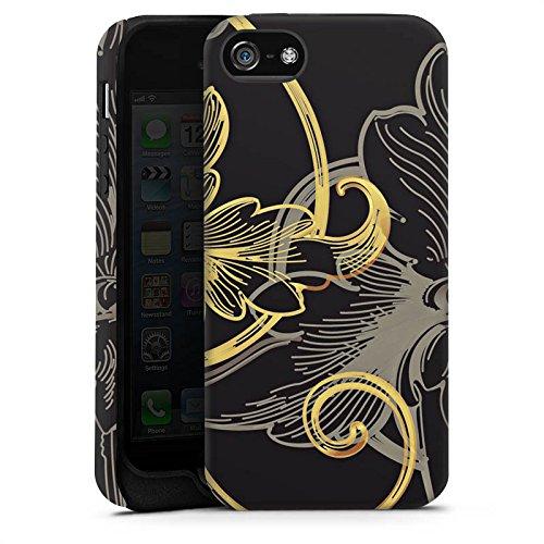 Apple iPhone 5 Housse Étui Silicone Coque Protection Fleur Fleur Fleur Cas Tough terne