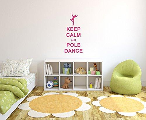 Preisvergleich Produktbild Keep Calm and Pole Dance Wandtattoo Format: 300x131 mm_a Wandbild,  Wandaufkleber,  Wandsticker Dekoration für Wohnzimmer,  Schlafzimmer und Kinderzimmer