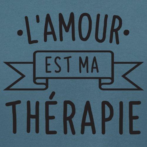 L'amour est ma thérapie - Femme T-Shirt - 14 couleur Bleu