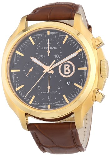 Junghans Men's Automatic Watch Bogner Willy Chronoscope 027/7263.00 with Leather Strap