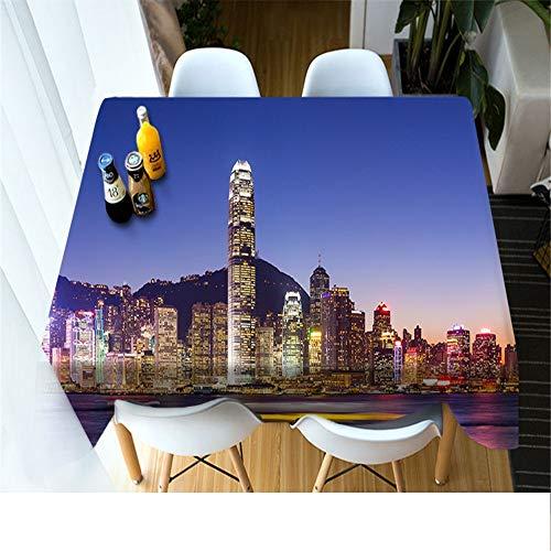 Forte Schwarz Schale (QWEASDZX Tischdecke Einfacher und moderner Umweltschutz Digitaldruck Dekorative Tischdecke Ölbeständig Und Wasserdicht Rechteckige Tischdecke 134x183cm)