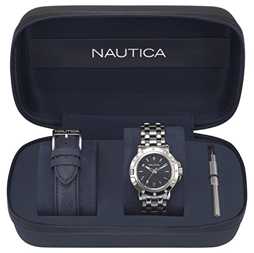 Nautica Women's Analogue Quartz Watch with Stainless Steel Strap NAPPRH010