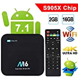 Android TV Box - VIDEN Newest Android 7.1 Smart TV Boxsets, Amlogic S905X Quad-Core, 2GB RAM & 16GB ROM, 4K @60fps Ultra HD, Support Video Encoder for H.265, 2.4GHz WIFI Bluetooth 4.0[New model]