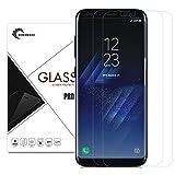 LaTEC gehärtetem Glas Displayschutzfolie für Samsung Galaxy S8 [Full Deckung], Ultra 0,26 mm dünn 9H Härte HD Klar,