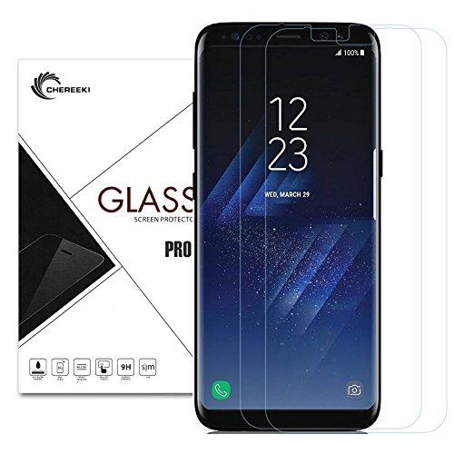 LaTEC gehärtetem Glas Displayschutzfolie für Samsung Galaxy S8 [Full Deckung], Ultra 0,26 mm dünn 9H Härte HD Klar, kratzfest und Anti-Fingerprint, Blasenfreie für Galaxy S8