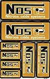 NOS N.O.S. Lachgas gold Sticker Aufkleber Folie 1 Blatt 270 mm x 180 mm wetterfest