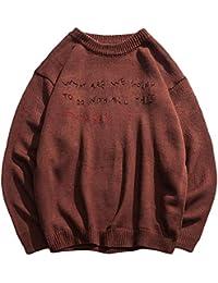 586ebb132f76 Zalock Herren Pullover Top Samt Verdicken Einfarbig Kurzer Absatz  Langarm-Shirt Gerade Trend Jugend Sweatshirt Mode Baumwolle…