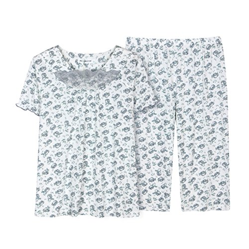 Gemütliche shorts Lady-Kurzarm-Pyjama-Set dünne Sommerkleidung Kit/Sommer dünnen Abschnitt Trainingsanzug Anzug A