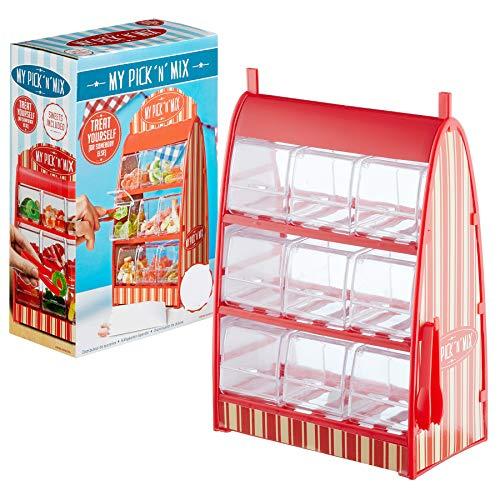 Preis am Stiel Süßigkeitenspender mit 9 Schubladen und Einer Zange | Süßigkeitenautomat | Süßigkeitenbehälter | Geschenkidee | Süßigkeitenspender für Kinder | Automaten (Automaten)