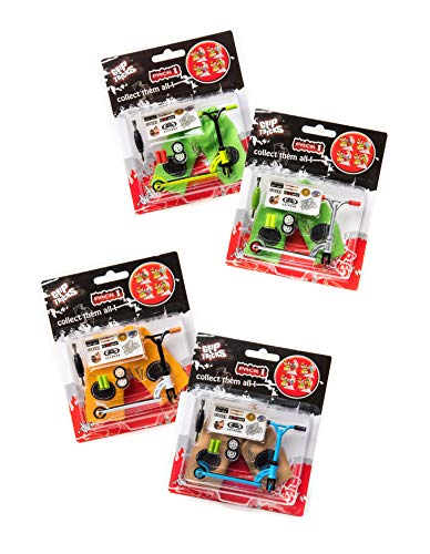Grip & Tricks - Partita di 4 Finger Scooter - Pack1 - Mini Monopattino - Dimensions: 22 X 13,5 X 2 cm