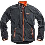 FLM Fleecejacke Herren Sports Fleece Jacke Herren 1.0, Outdoor, Freizeit, Sportbekleidung, Microfleece, kontrastfarbene Details, grau, XXL / 2XL