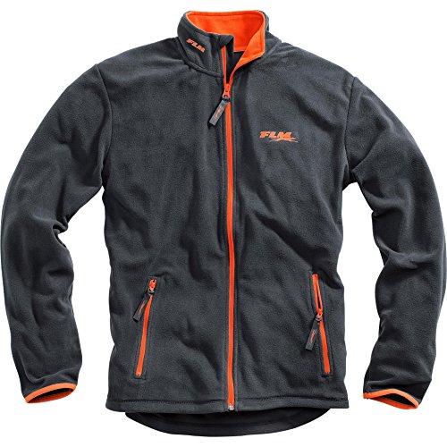 FLM Fleecejacke Herren Sports Fleece Jacke Herren 1.0, Outdoor, Freizeit, Sportbekleidung, Microfleece, kontrastfarbene Details, grau, L