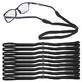 ATPWONZ 10er sportliches Brillenband, leicht, weich, elastisch, Hoher Tragekomfort, Ideal für Intensiver Sport wie Fußball, Basketball, Badminton usw.