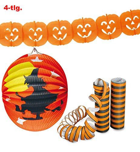 Fries - Halloween Party Set Luftschlangen Girlande Lampion - 1St