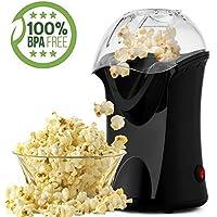Bunao 1200W Máquina de Palomitas de maíz, Popcorn Machine | Retro Palomitero Pop Corn Maker