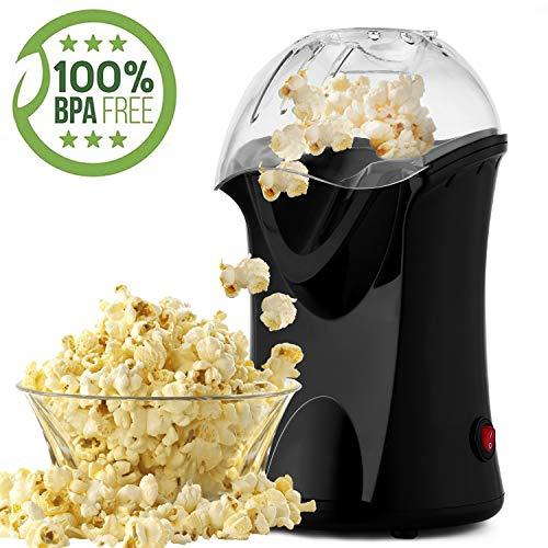 Popcornmaschine, Popcorn Maker mit Abnehmbarem Heizfläche Antihaftbeschichtet, Bietet Große Deckel für Servierschüssel, 1200W (Color2)