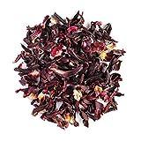 Karkadè fiori di ibisco biologico - Aroma di limone e frutti rossi - Classico tè rosa dell'Abissinia agrodolce - Hibiscus Flower bio 100g