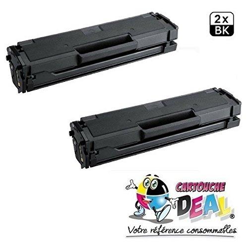 Prestige Cartridge MLT-D101S Pack de 2 Cartouches de Toner compatible avec Imprimantes Samsung ML-2160 ML-2165W ML-2168 SCX-3400W SCX-3405 SCX-3405FW SCX-3405W SCX-3405F SF-760 SF-760P ML-2162 ML-2165
