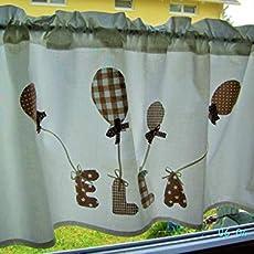 1,40 x 45 cm,Baumwolle,Wunschname, Kinderzimmergardine mit Namen