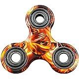 Crisant El plástico Tri Fidget Hand Spinner Toys,Personalidad Vistoso Alta velocidad Reductor de ADHD EDC Juguetes Para Adultos O Niños (Naranja)