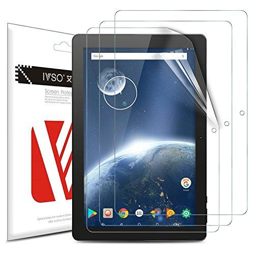 IVSO Teclast P10 Pellicola Protettiva, Schermo Trasparente per Teclast P10 Tablet (Clear - 3 Pack)